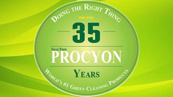 Carpet Cleaning Green Soap Free Procyon - Doing the Right Thing for Over 35 Years - World's #1 Green Cleaning Products